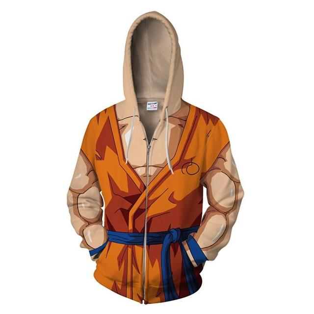 Dragon Ball Z All Characters Zip Up Hoodie
