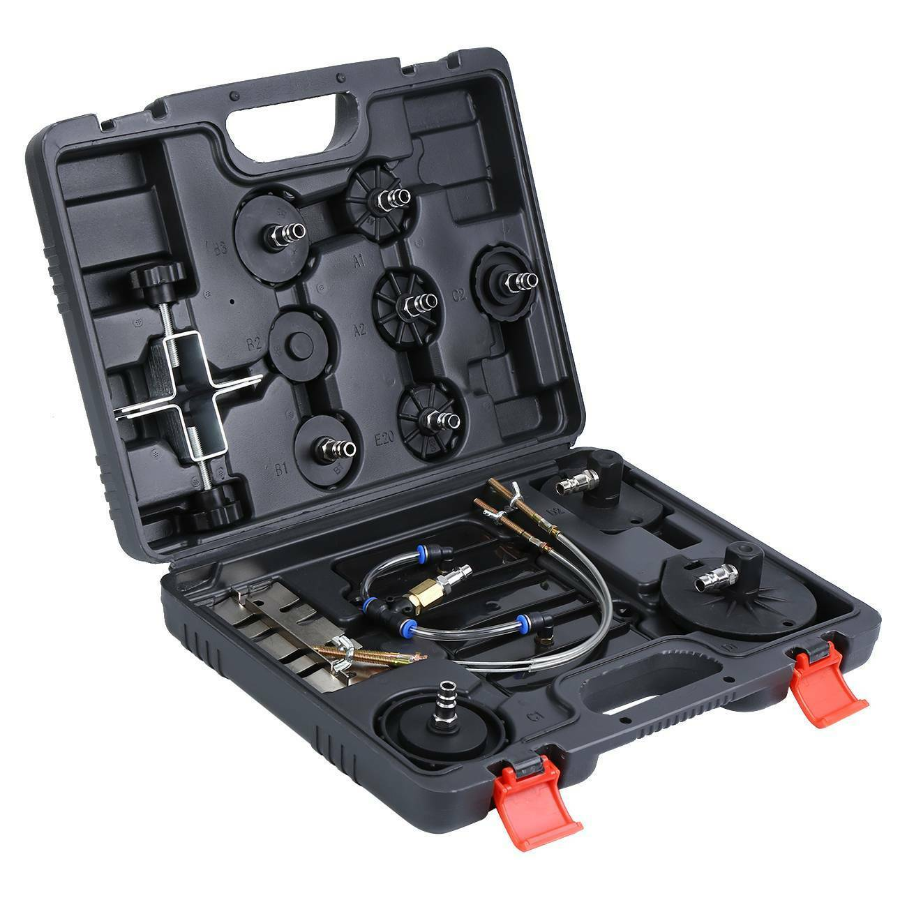 Samger  Air Pressure Brake Bleeder Adapters E20 Compressed Air Bleeder Pneumatic Brake Bleed Set Box