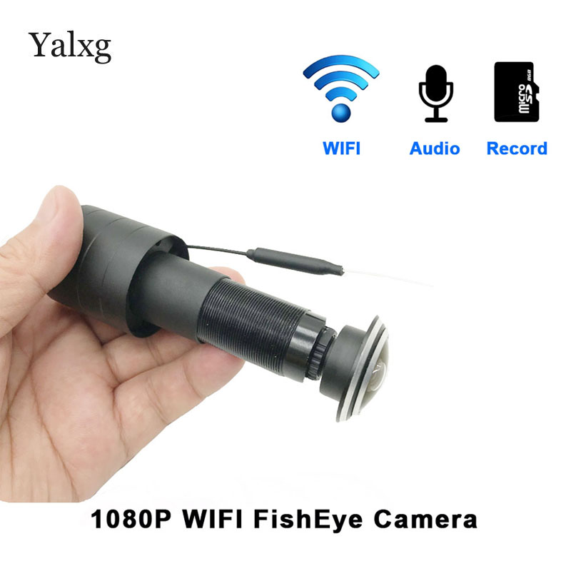 New 1080P Wi-fi Door Eye Hole Home Mini Peephole IP Camera Fish Eye Lens Motion Sensor Cam Built-In TF Card/Audio Supported