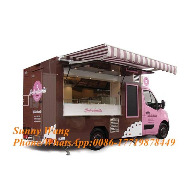 사용자 정의 새로운 디자인 거리 전기 음식 차량 레스토랑 자동차 모바일 서빙-카트
