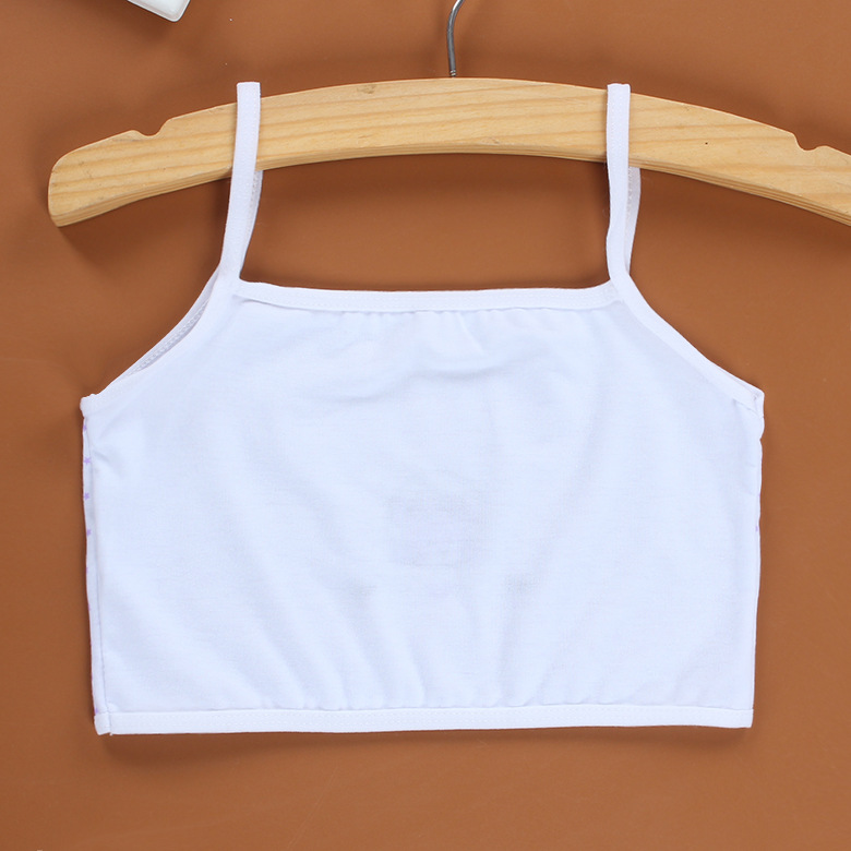 3Pcs/Lot Cotton Young Girls Training Bra 8-13 Years Children Bras Condole Belt Vest Kids 5