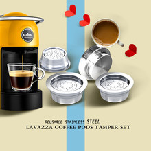 Lavazza-filtro de café reutilizable de acero inoxidable para máquina Lavazza, cápsula de café con gotero
