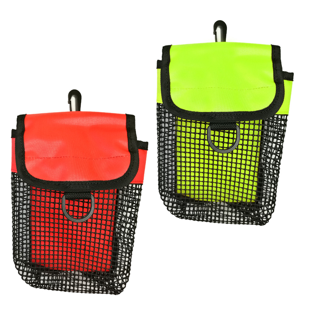 Dive SMB Surface Marker Buoy Pouch Diving Reel Mesh Storage Holder Bag With Snap Diving Carrier Equipment