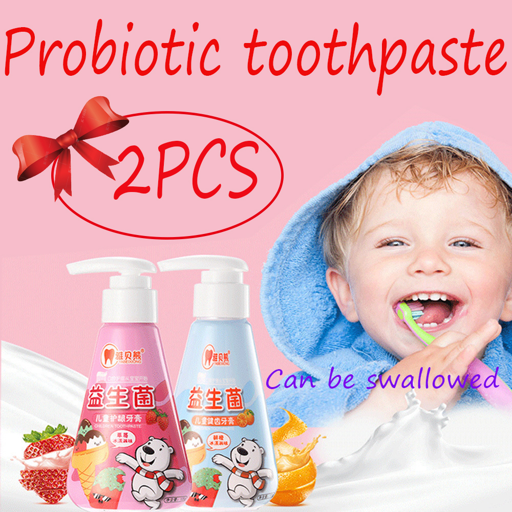 1pcs*120g  Strawberry/ Orange Flavor swallowable and compressible children's toothpaste teeth whitening dental care
