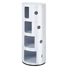 Shelf Tables Nightstand Side-Cabinet 4-Tier-Storage Bedside Bedroom Small Home Locker