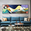 Sleeping Woman Abstract Painting Printed on Canvas 1