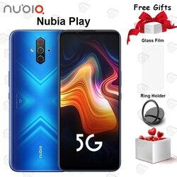 Оригинальный смартфон Nubia Play 5G, экран 6,65 дюйма AMOLED 144 Гц, 8 ГБ + 128 Гб, Snapdragon 76, восемь ядер, Android 10, NFC