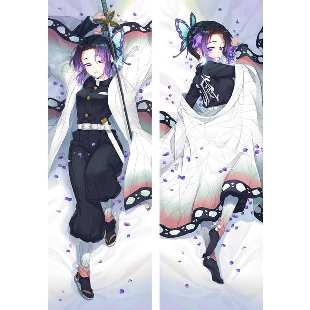 Mgf Nieuw Ontwerp Dakimakura Demon Slayer: Kimetsu Ao Yaiba Anime Kochou Shinobu Knuffelen Kussensloop Kamado Nezuko