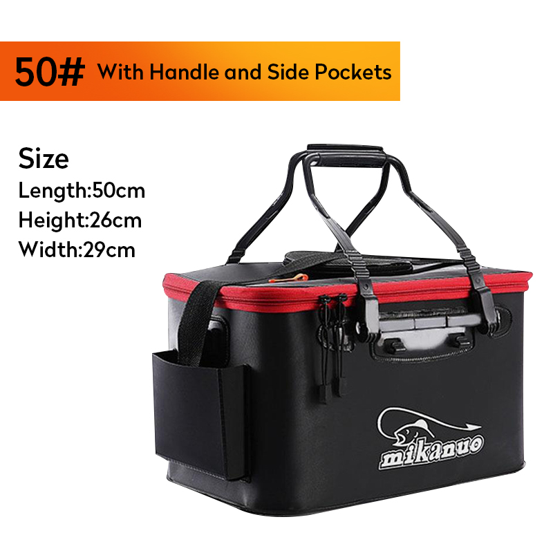 Hot Sale 11/19/23/28/35L Collapsible Folding Thicken Live Fishing Box EVA Tank Bucket Camping Outdoor Fishing Bag Tackle Fishbox