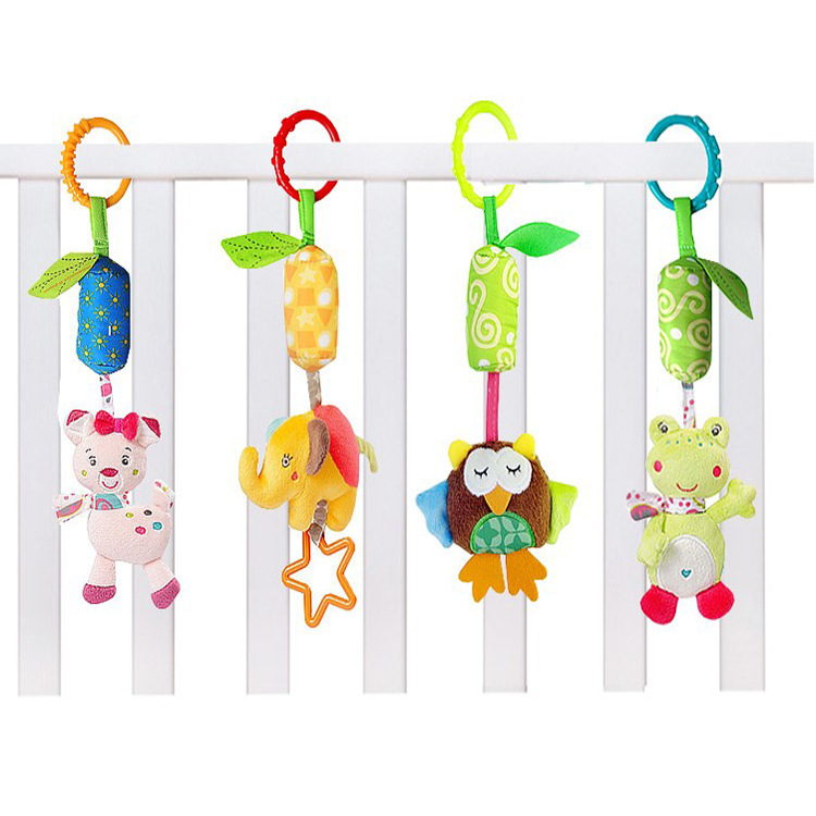 Infant Cartoon Wind Chime Trolley Pendant Bed Hanging Bed Around Bedside Rattle Baby Gift Toy BB Device A Generation Of Fat