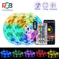 ColorRGB, LED Licht Streifen, Musik Synchronisiert Farbwechsel RGB5050, Telefon App Fernbedienung, LED Licht Seil 6M 12M 15M