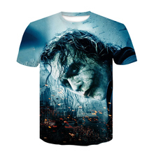 Новинка,, футболка с 3D принтом «Темный рыцарь», мужская повседневная футболка с круглым вырезом, Мужская футболка с коротким рукавом, забавная футболка для косплея, homme
