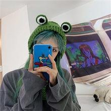 Skullies invernali 2020 cappello da rana da donna cappello lavorato a maglia all'uncinetto Costume berretto cappelli berretto regalo da donna cappello da bambino Anime fotografia Prop Party
