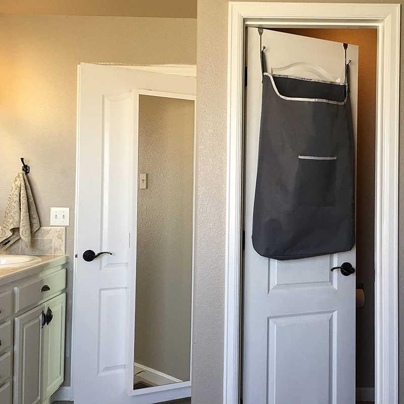 Ruimtebesparend Over De Deur Opknoping Mand Badkamer Wasmand Oganizer Laundry Room Gemonteerd Vuile Kleding Opbergtas Waszakken Aliexpress