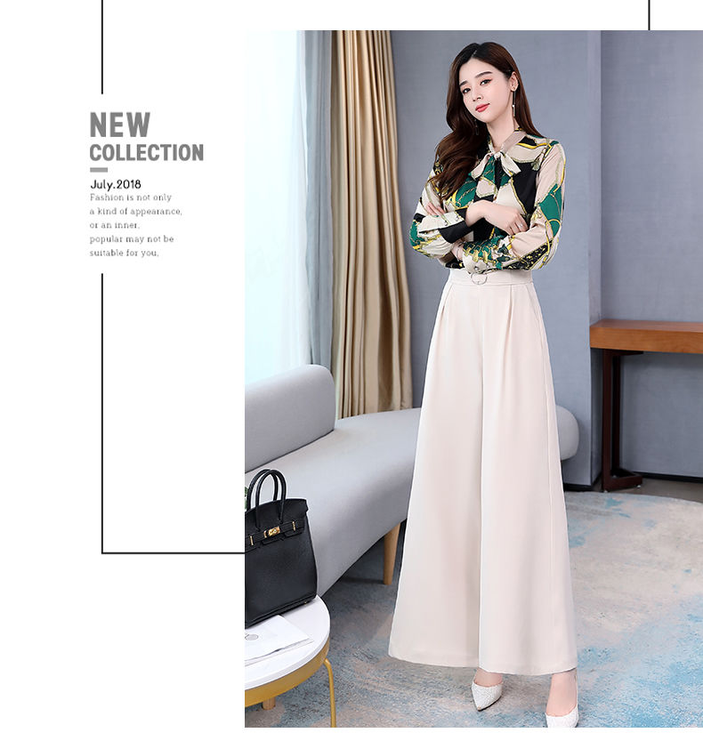 H79f1df35cda94434b1b8d67ff7cab941P - Summer Two Piece Set OL Women Sets Plus Size Two Piece Set Top And Pants Wide Leg Pants Woman Tracksuit /outfit/suit/Set 2 Piece