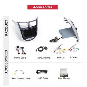 Image 4 - Bonroad אנדרואיד 10 Ram2G + Rom32G מולטימדיה לרכב נגן DVD לרכב עבור Solaris ורנה אקסנט 2010 2016 רכב GPS רדיו וידאו ניווט