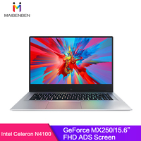 MaiBenBen XiaoMai 6A for Office Laptop N4100+MX250 2G Graphics Card/8G RAM/ 128G SSD+1TB HHD/DOS/Silver 15.6 ADS Metal Notebook