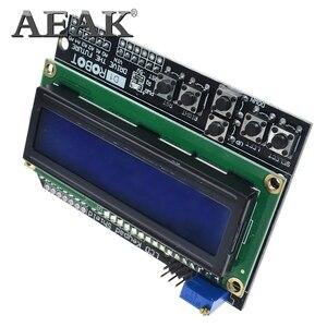 Image 2 - AEAK 1PCS LCD Keypad Shield LCD1602 LCD 1602 Module Display For Arduino ATMEGA328 ATMEGA2560 raspberry pi UNO blue screen