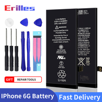10pcs 100% New Phone Battery For Apple iPhone 6G 6P 6S 6SP Original Capacity 0 Cycle Replacement Batterie For iPhone 6 With Gift