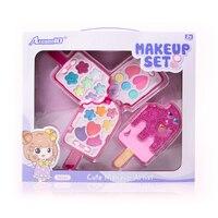 Макияж набор для девочек, детские аксессуары для макияжа, безопасный и нетоксичный ролевой Игровой набор, принцесса макияж игрушки