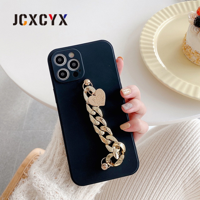 Hot Japan plating Acrylic Bracelet chain soft case for iphone 12 Pro Max MiNi 11 Pro Max XR X XS Max 7 8 plus 6S SE 2020 cover 5