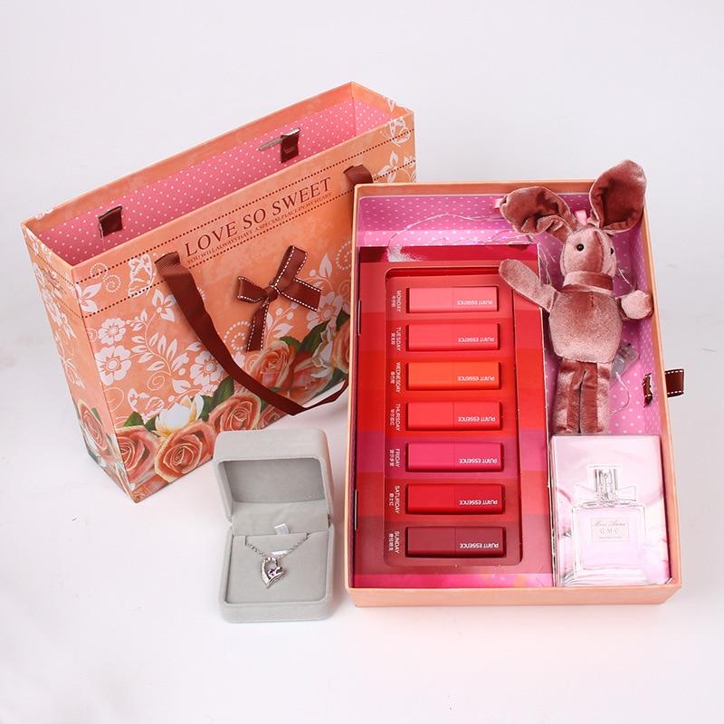 Lovers' Day Teacher's Day Gift Seven Days Lipstick Perfume Rabbit Gift Box Creative Birthday Gift For A Girlfriend Romantic