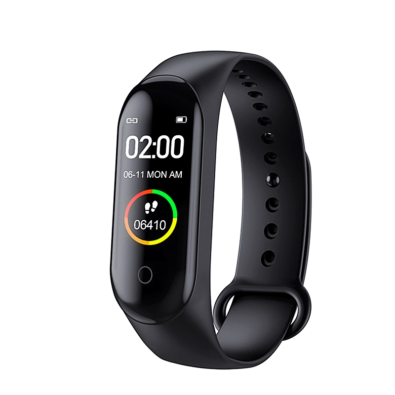 New M4 Android Smart Band Wristband Watch Fitness Tracker Bracelet Color Touch Sport Heart Rate Blood Pressure Monitor
