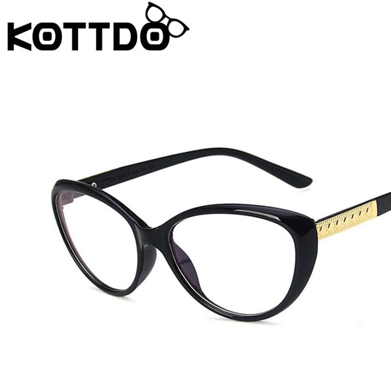 KOTTDO Classic Cat EyeGlasses Frames For Men Vintage Fashion Prescription Eye Glasses Women Plastic Frame