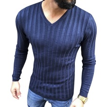 Puimentiua Mens Casual Warm Sweater Long Sleeve Striped Fitness Knitted Sweaters Pullover Men Top Clothes Solid 2019