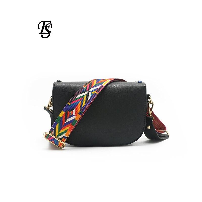 Image 3 - E.SHUNFA Pu Leather Shoulder Bag For Women Black Small Bag  Crossbody Bag Color Shoulder Strap Luxury Bag Women Bag  DesignerShoulder Bags