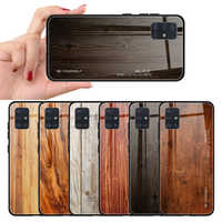 For Samsung A51 A71 Case Wood Grain Glass Case For Samsung Galaxy A71 A51 A515F A515 A715 A 51 71 Funda Phone Back Cover