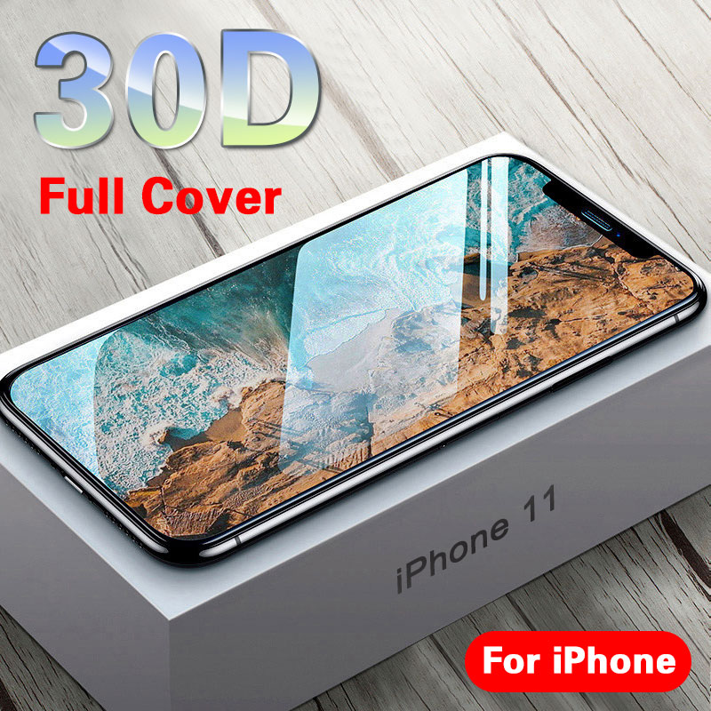 30D Protective Glass On The For IPhone 11 Pro X XS MAX 11 Glass Full Cover IPhone 11 Pro Max XR Screen Protector Tempered Glass