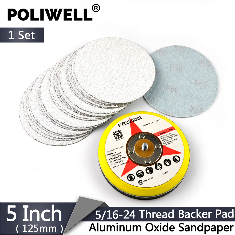 5/'/' 125mm Hook and Loop Backing Pad with M14 x 2 thread Polishing Pad