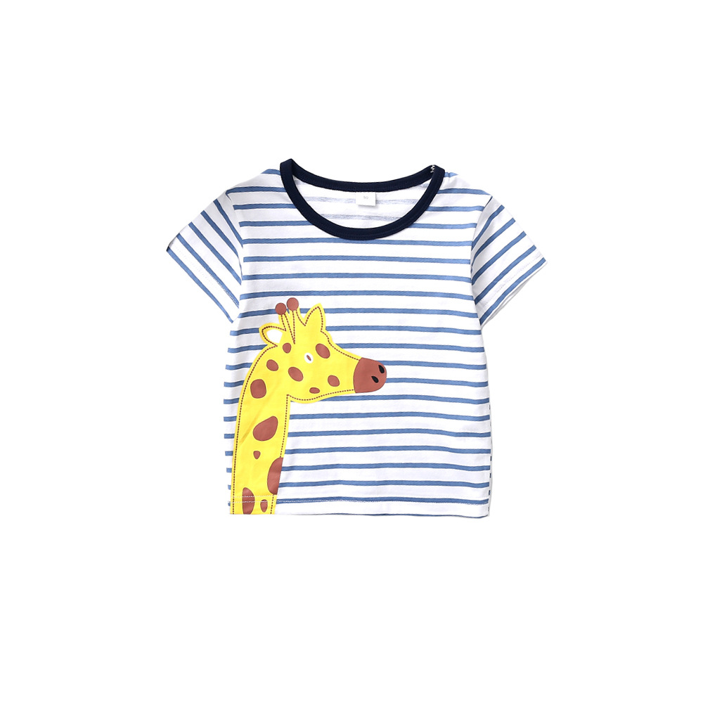 New Products Children Striped Suit BOY'S Giraffe Printed Kids Clothes CHILDREN'S Suit Baby 2 Pieces