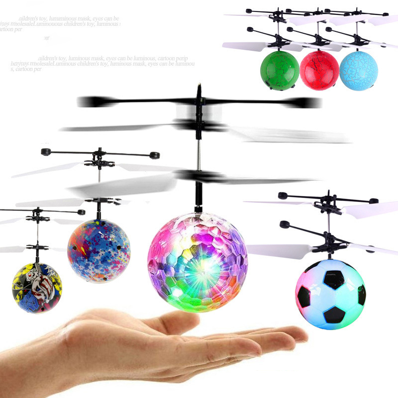 Mini Drone Colorful Flying Ball RC Helicopter Flying Balls Anti-stress Infrared Induction Aircraft  Remote Control Toys For Kids