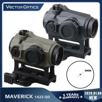 Vector Optics-Mira óptica impermeable Maverick Gen3 1x 22, punto rojo de mirilla para cazar, visor de caucho blindado IPX6 QD AR, 223, 5,56, 308, 7,62