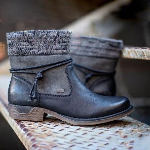 tornozelo botas casuais senhoras sapatos de neve