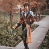 Anime! Genshin Impact Zhongli Cosplay Costume Game Suit Men Fancy Uniforms Halloween Carnival Party Outfits Custom Made 1
