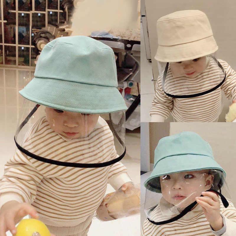 Boné de bebê ao ar livre algodão macio crianças balde chapéu cor sólida meninos meninas proteção pescador chapéu primavera verão