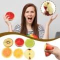 Непоседа куб игрушки Половина фрукт для сжимания игрушки разархивировать Цвет печать мягкие игрушки мягкие моделирование фрукты Еда модел...