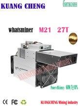 سريع مجاني WhatsMiner M21 27T مينر M21 Sha256 مينر أسيك BTC الغرفة Bsv آلة استخراج المعادن أفضل من Antminer s9k s9se t2T 26t