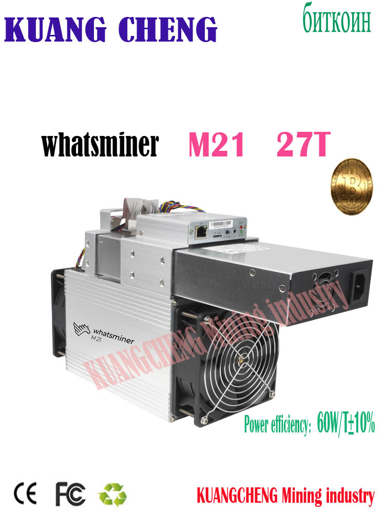 Быстрая доставка WhatsMiner M21 27T miner M21 Sha256 miner Asic BTC BCH Bsv горнодобывающая машина лучше чем Antminer s9k s9se T2T 26t
