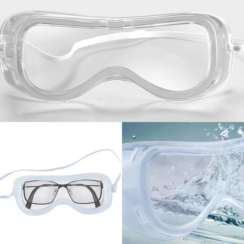 Safety Goggles Windproof Dust Anti Fog Splash Protection Glasses Factory Lab Anti Spitter Transparent Goggles