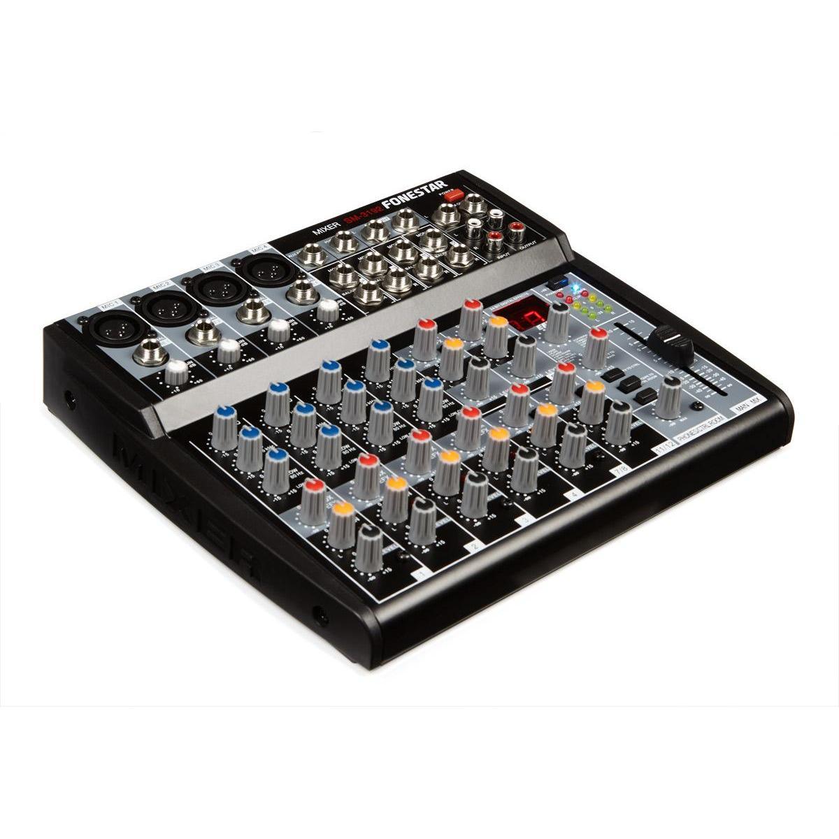 Table Blends Studio Flat 12canales 4 + 4 Phantom DSP Fonestar