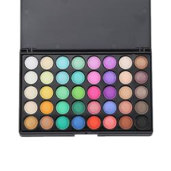 1 шт., 40 цветов, Палетка теней для макияжа, хайлайтер, мерцающий макияж, пигментные тени для век, палитра, Косметика для макияжа