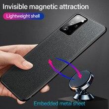 Coque de téléphone Samsung en Silicone Ultra-mince avec support magnétique, étui pour Galaxy S21, S20, S10, S9, Note 20, 10, 9, 8 Plus