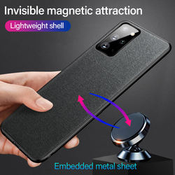 Ultra-thin Cloth Magnetic Phone Case For Samsung Galaxy S21 S20 S10 S9 Note 20 10 9 8 Plus Silicone Cover