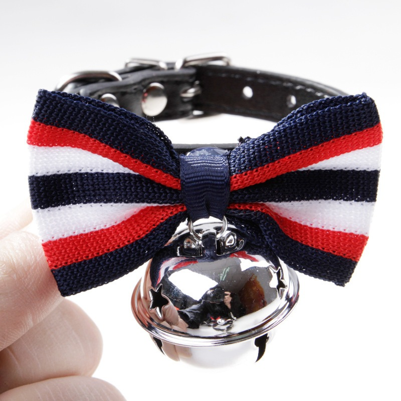 Pet Supplies Dog Neck Ring Necklace Ornament Teddy Dog Fashion Bow Bell Neck Ring
