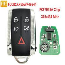 Él Xiang coche clave para Jaguar 2009-2012 XF XFR para el XK XKR 2010-2013 FCCID KR55WK49244 ID46 PCF9753 315 434 Mhz sin llave ir