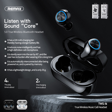 цена remax true wireless earphone for music and call Double ear type Bass High sound quality  Sports earphones онлайн в 2017 году